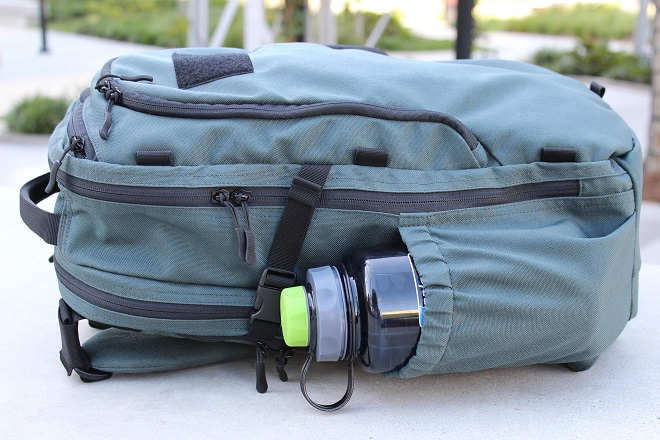 Alpha One Niner EVADE Review, full shot - nalgene drink bottle