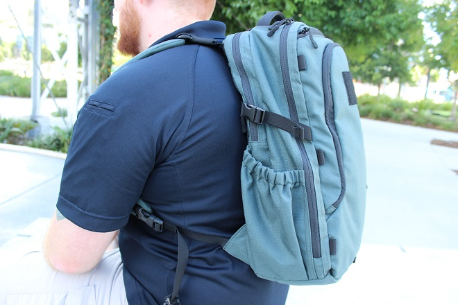 Alpha One Niner EVADE Review - on body side shot, low profile