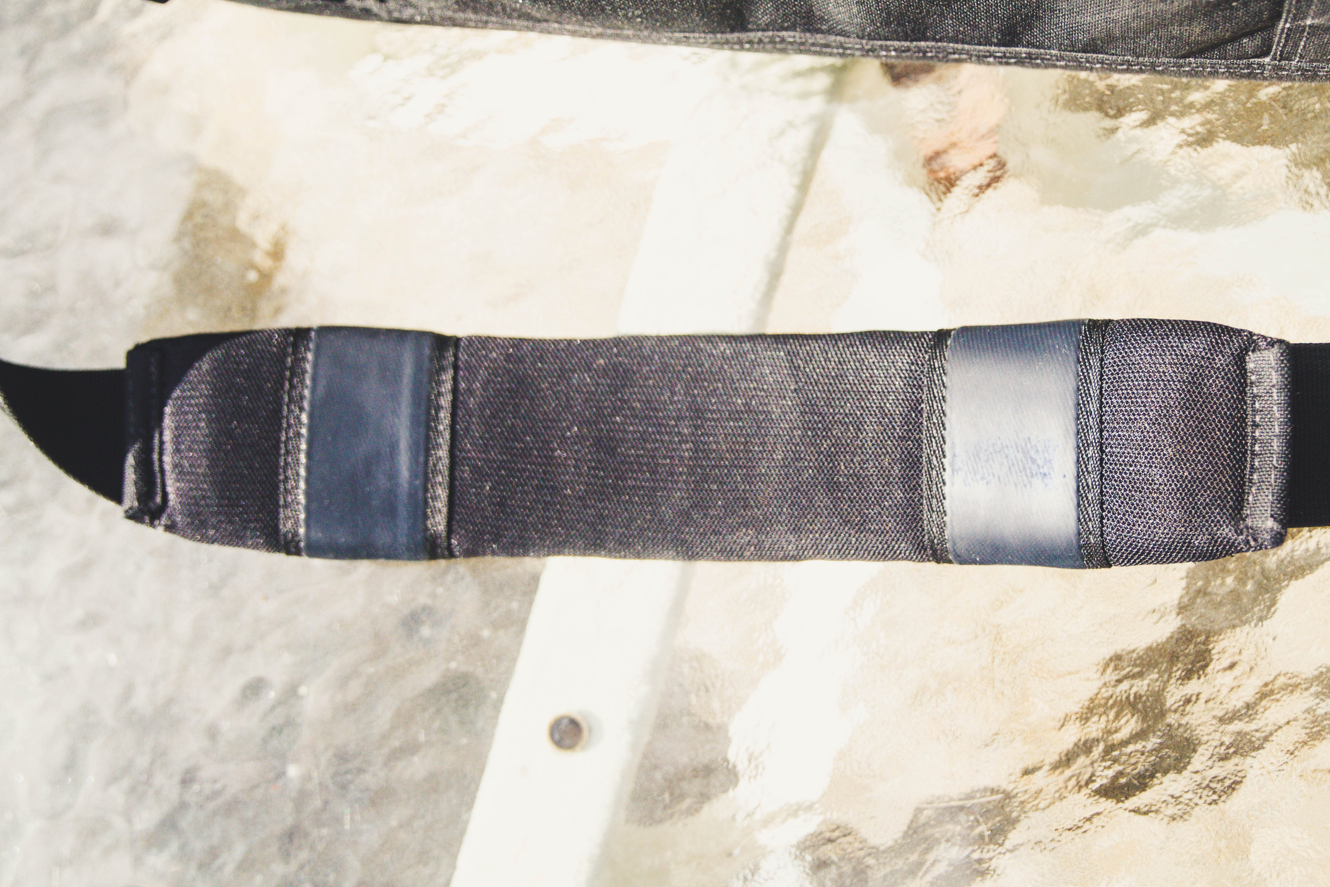 First Tactical Executive Briefcase shoulder strap close up