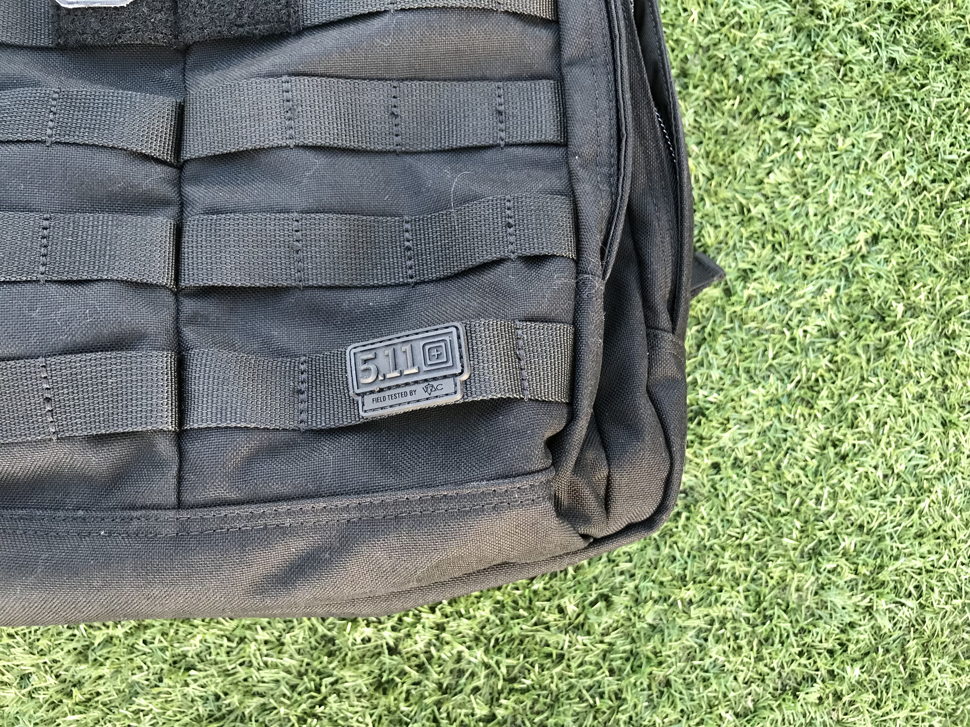 5.11 Rush24 Review Logo and webbing