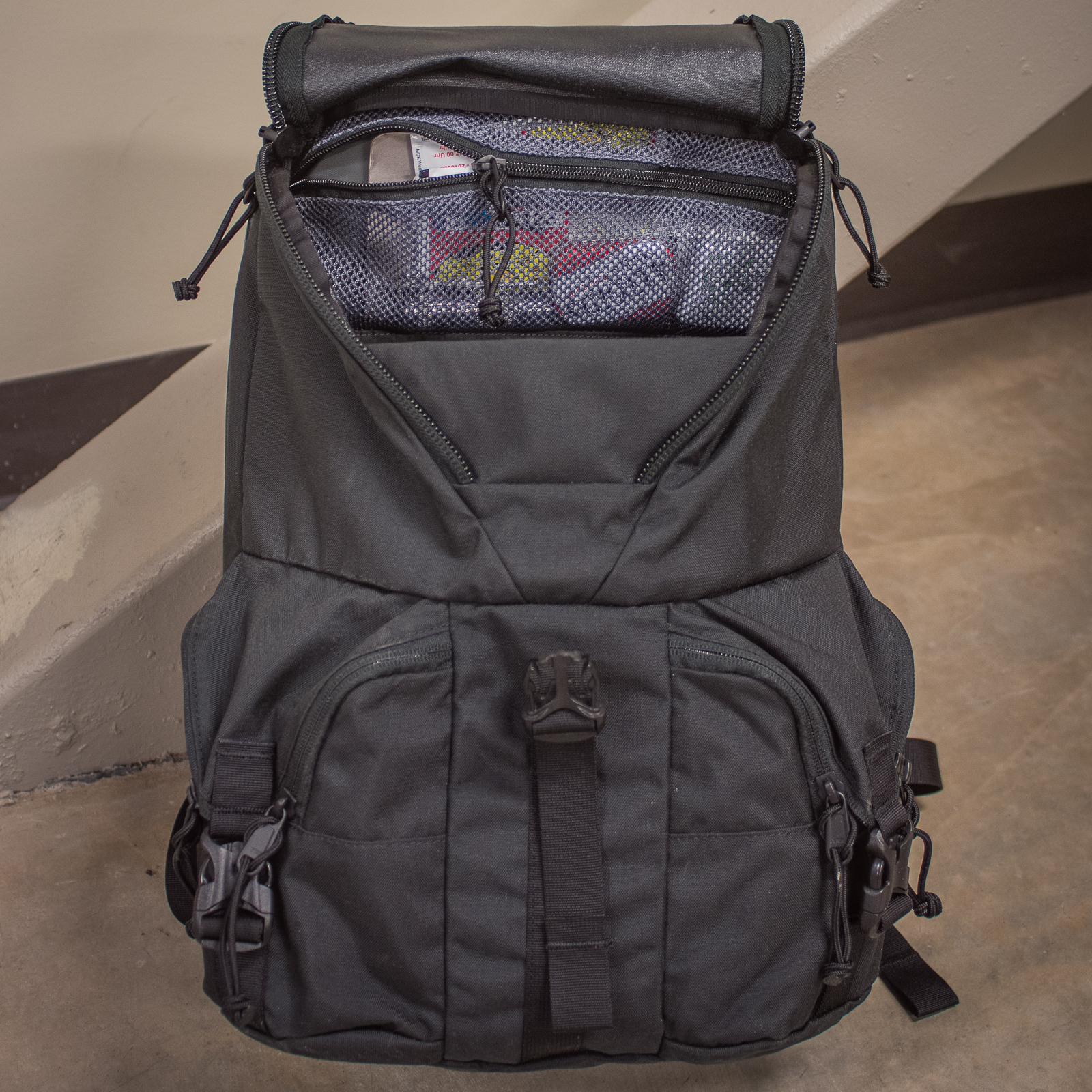 Mystery Ranch Rip Ruck Backpack review main compartment zippered pocket