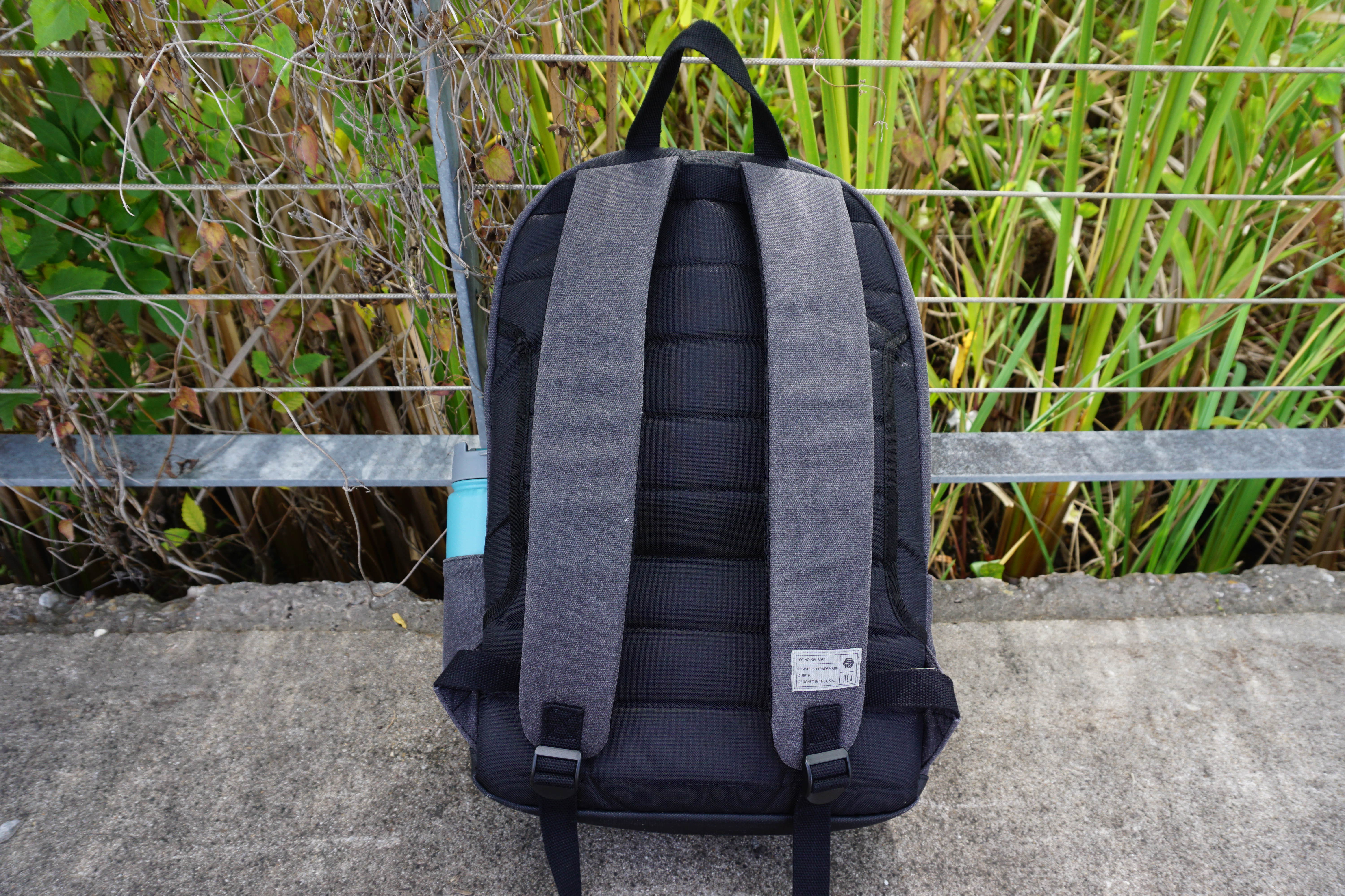 Hex brand supply signal backpack review back padding straps view luggage handle passthrough section