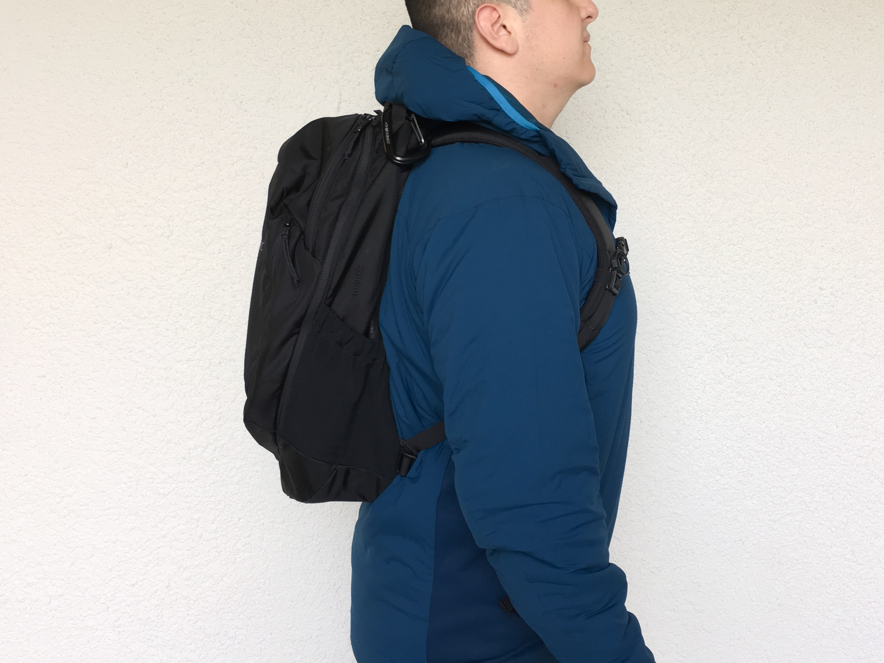Arcteryx Mantis 26 review on body side view