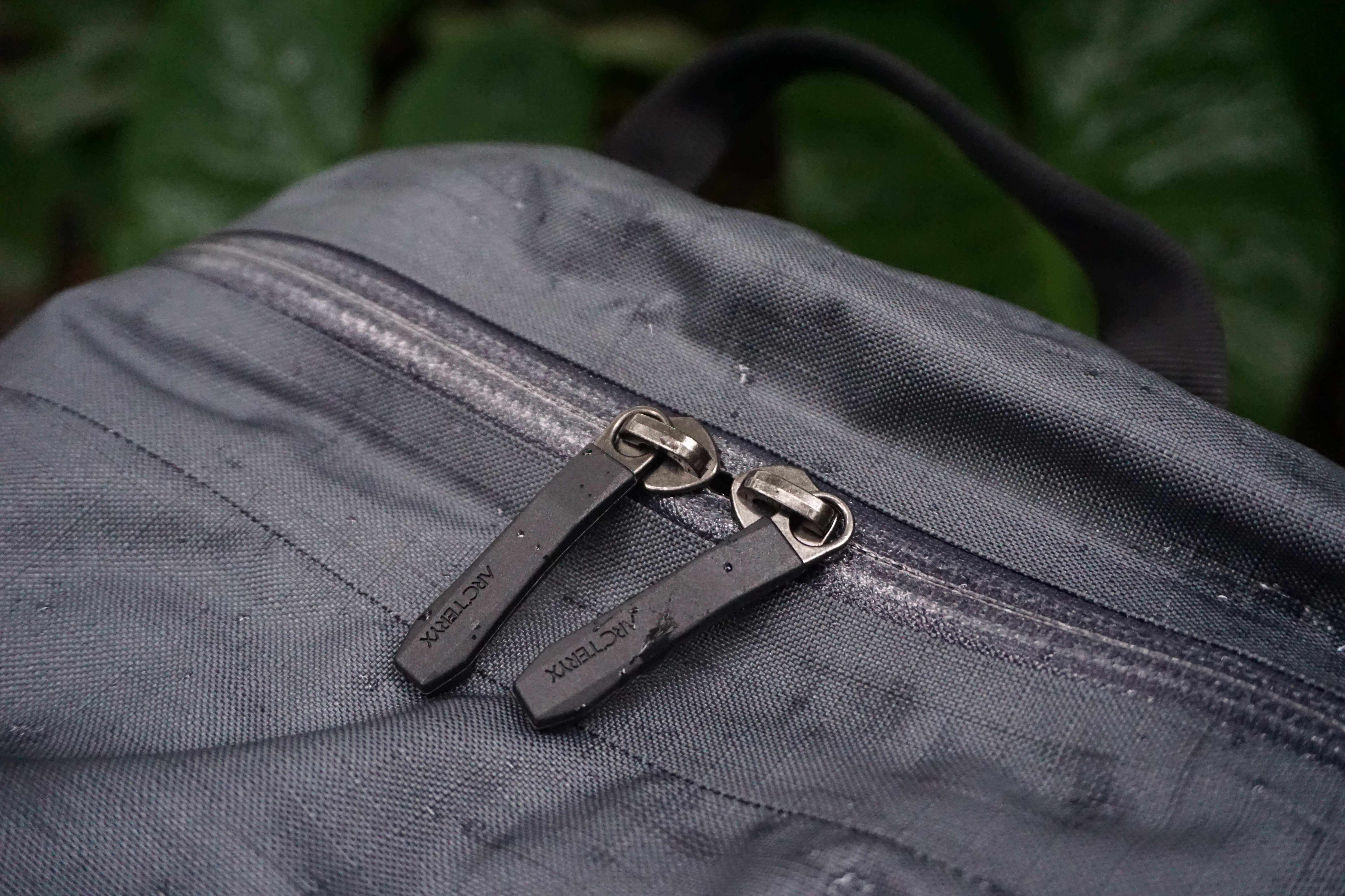 Arc'teryx Granville Zip 16 zipper pulls detail water resistant weather resistant zippers