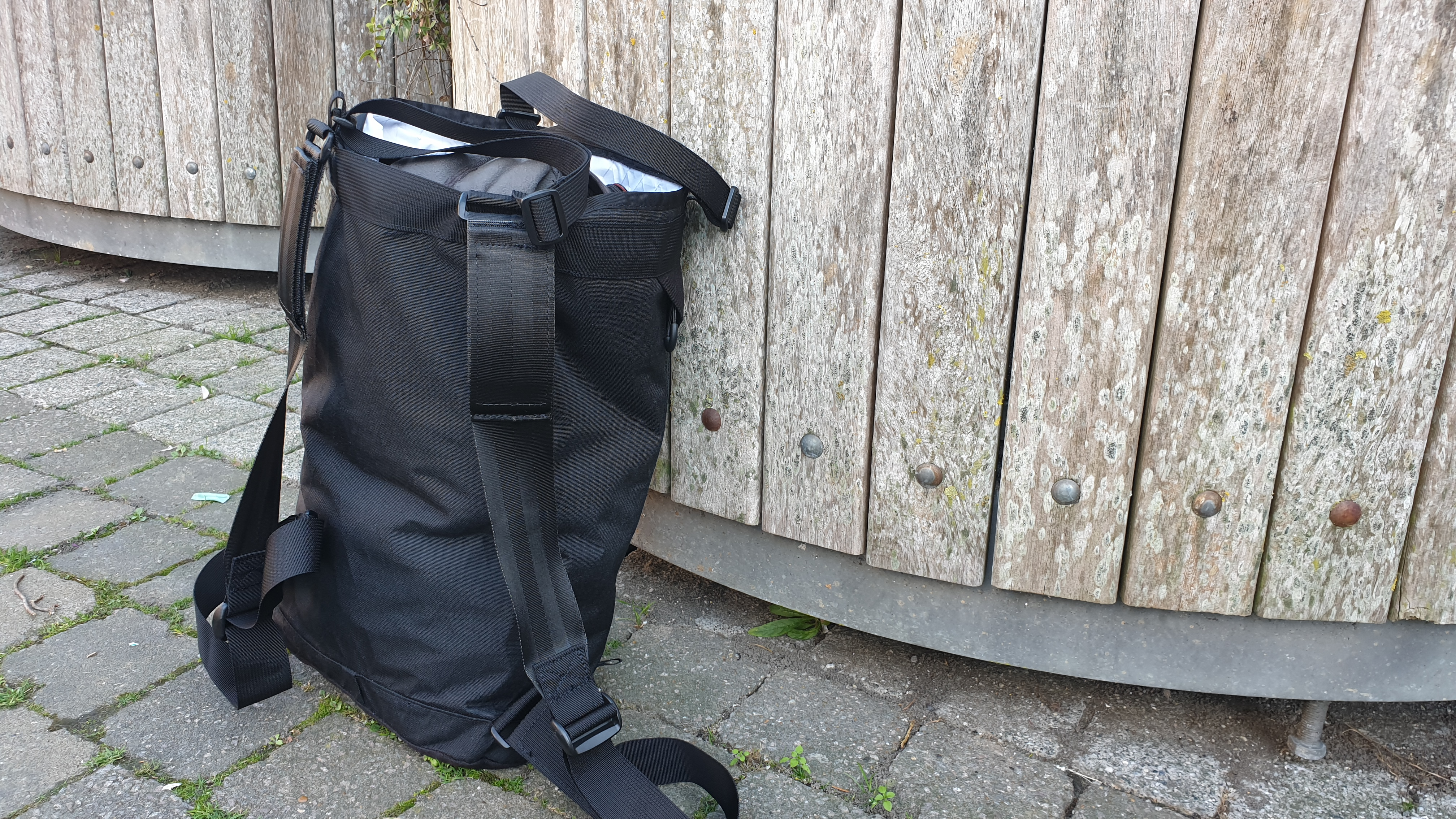 Remote Equipment Bravo 18 backpack hauler review straps back panel view