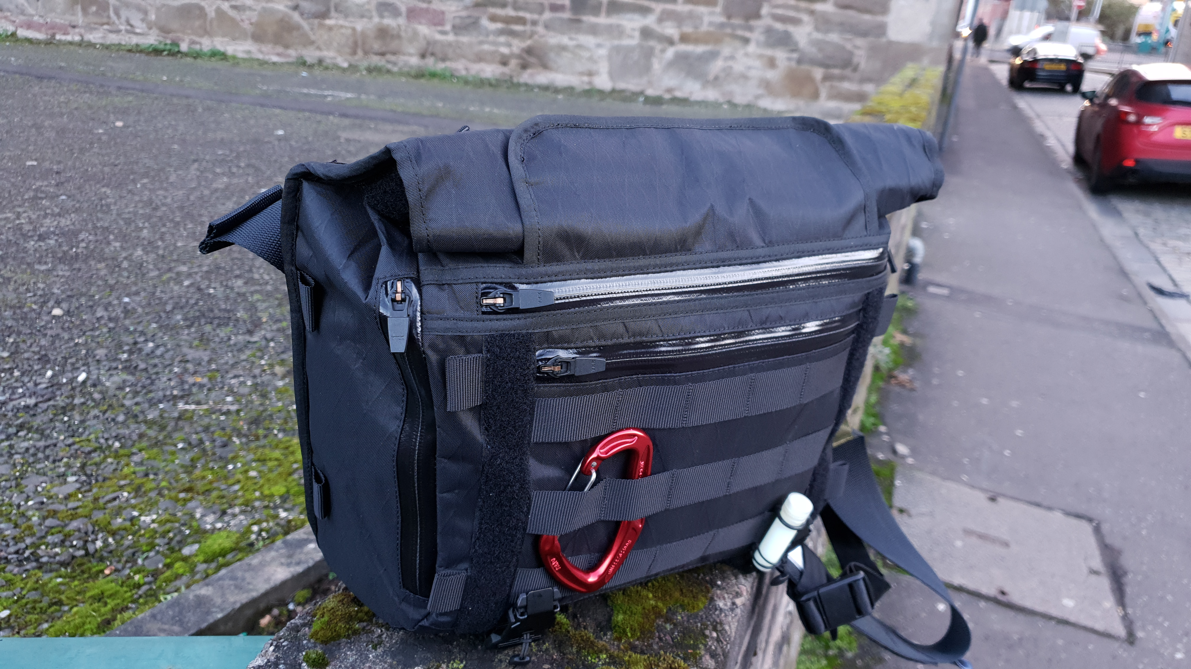 Orbit Gear R221 Messenger bag review rolltop feature amphibious closure system